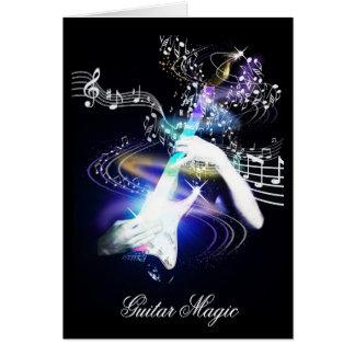 Cartão mágico da arte da guitarra elétrica da