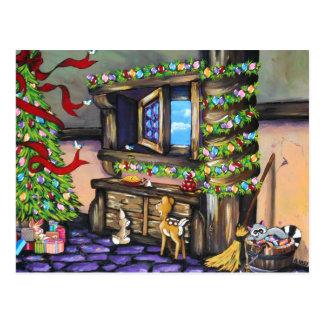 Cartão mágico original pintado mão da casa de camp cartão postal