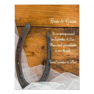 Cartão Magnético A ferradura e o casamento ocidental do véu salvar
