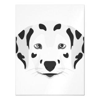 Cartão Magnético A ilustração persegue o Dalmatian da cara