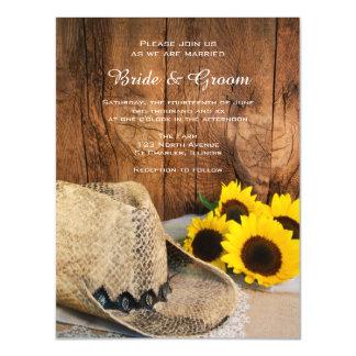 Cartão Magnético Chapéu de vaqueiro, casamento de madeira do país