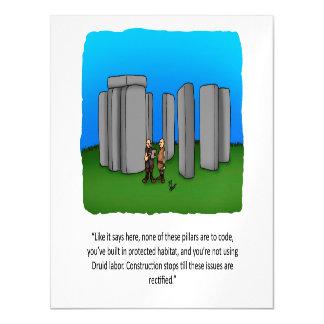 Cartão magnético do humor engraçado da construção