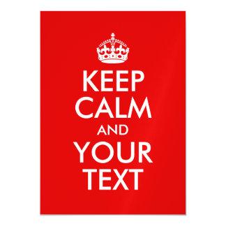 Cartão Magnético Mantenha a calma e o seu vermelho do texto