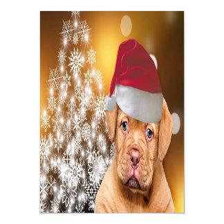 Cartão Magnético Natal Dogue de Bordéus