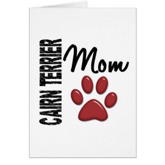 Cartão Mamã 2 de Terrier de monte de pedras