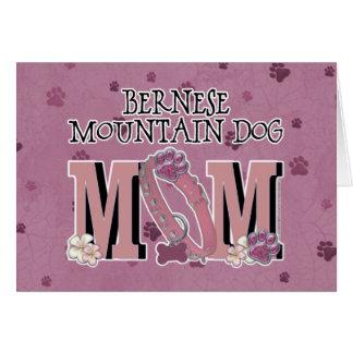 Cartão MAMÃ do cão de montanha de Bernese