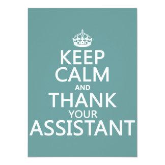 Cartão Mantenha a calma e agradeça a seu assistente - em
