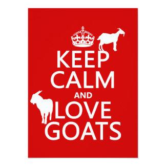 Cartão Mantenha a calma e ame cabras