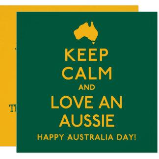 Cartão Mantenha a calma e ame um Aussie!