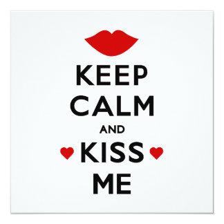 Cartão Mantenha a calma e beije-me