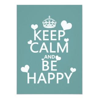 Cartão Mantenha a calma e esteja feliz (disponível em