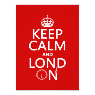 Cartão Mantenha a calma e o Lond em (Londres)