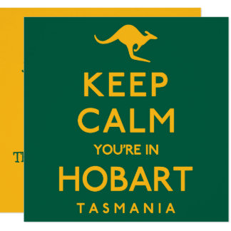 Cartão Mantenha a calma que você está em Hobart!