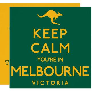 Cartão Mantenha a calma que você está em Melbourne!