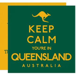 Cartão Mantenha a calma que você está em Queensland!