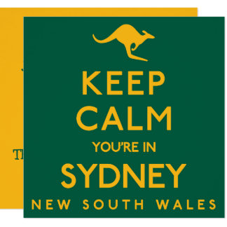 Cartão Mantenha a calma que você está em Sydney!