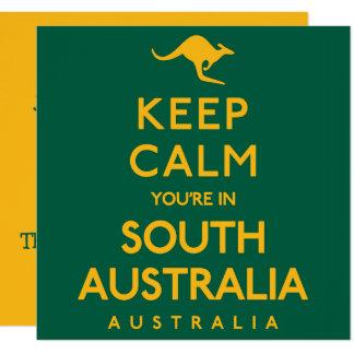 Cartão Mantenha a calma que você está no Sul da