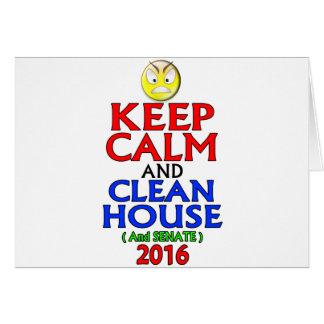 Cartão Mantenha a casa calma e limpa (e o Senado) 2016