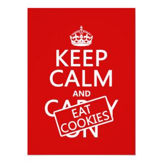 Cartão Mantenha calmo e coma biscoitos