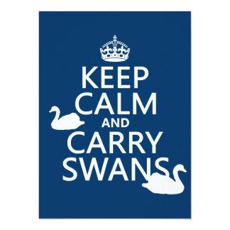 Cartão Mantenha cisnes calmas e do carregar - todas as