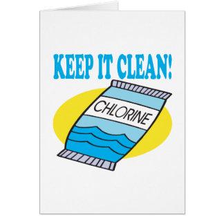 Cartão Mantenha-o limpo