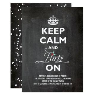 Cartão Mantenha o partido calmo na festa natalícia do