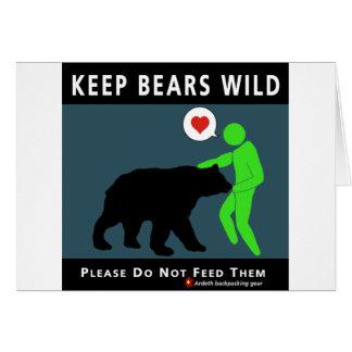 Cartão Mantenha ursos selvagens