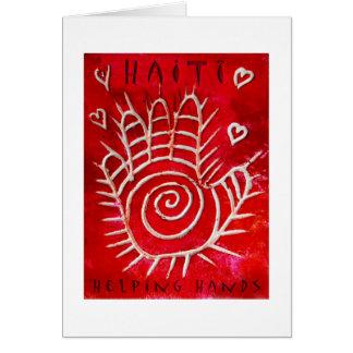 Cartão Mãos amiga para Haiti