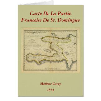 Cartão Mapa 1814 de Haiti por Mathew Carey