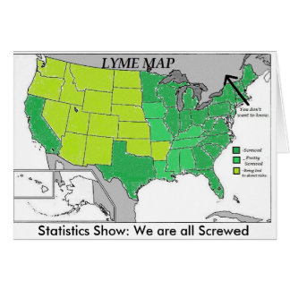 Cartão Mapa das estatísticas do mapa de Lyme, humor da