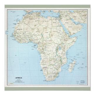 Cartão Mapa de África (1977)