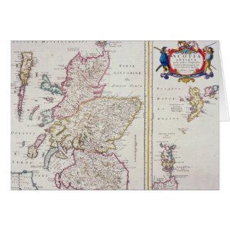 Cartão Mapa de Scotland, c.1700