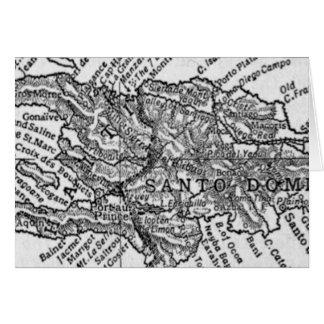 Cartão Mapa do vintage de Haiti (1911)