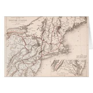 Cartão Mapa: EUA do nordeste