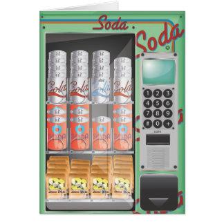Cartão máquina de venda automática