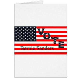 Cartão Máquinas de lixar de Bernie do voto para o