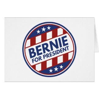 Cartão Máquinas de lixar de Bernie para o presidente