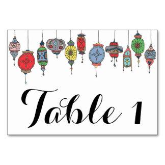 Cartão marroquino mágico da mesa das lanternas