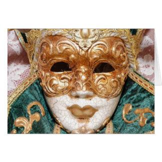 Cartão Máscara Venetian