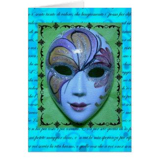 Cartão Máscara Venetian 2