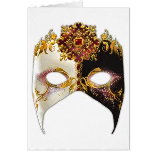 Cartão Máscara Venetian: Jóia do rubi
