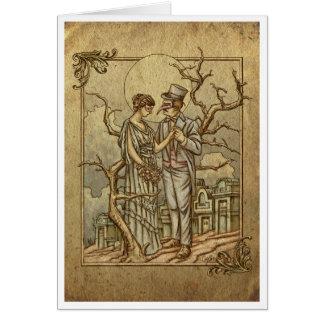 """Cartão """"Mascarada da meia-noite"""" (internos vazios)"""