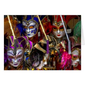 Cartão Máscaras Venetian