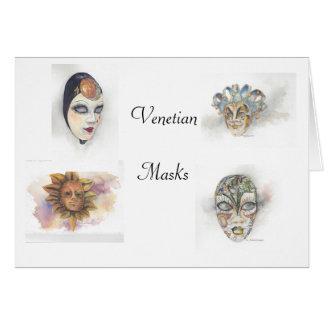 Cartão Máscaras Venetian Notecards por Mary Dunham