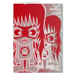 Cartão Mascote do metal