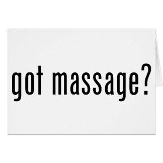 Cartão Massagem obtida?