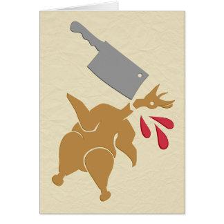 Cartão Matança dos obrigados