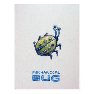 Cartão mecânico do inseto cartão postal