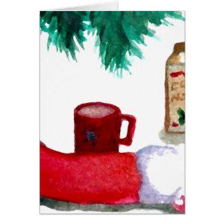 Cartão Meia da gemada do pequeno almoço do feriado da