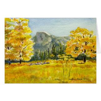 Cartão Meio prado da abóbada, parque nacional de Yosemite
